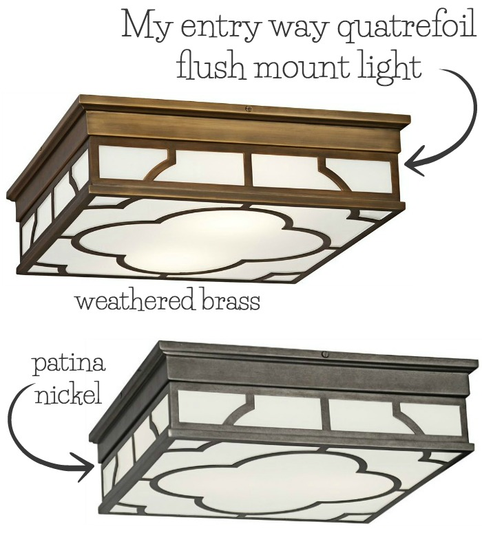 Gorgeous quatrefoil flush mount ceiling light - perfect for an entryway or bedroom!