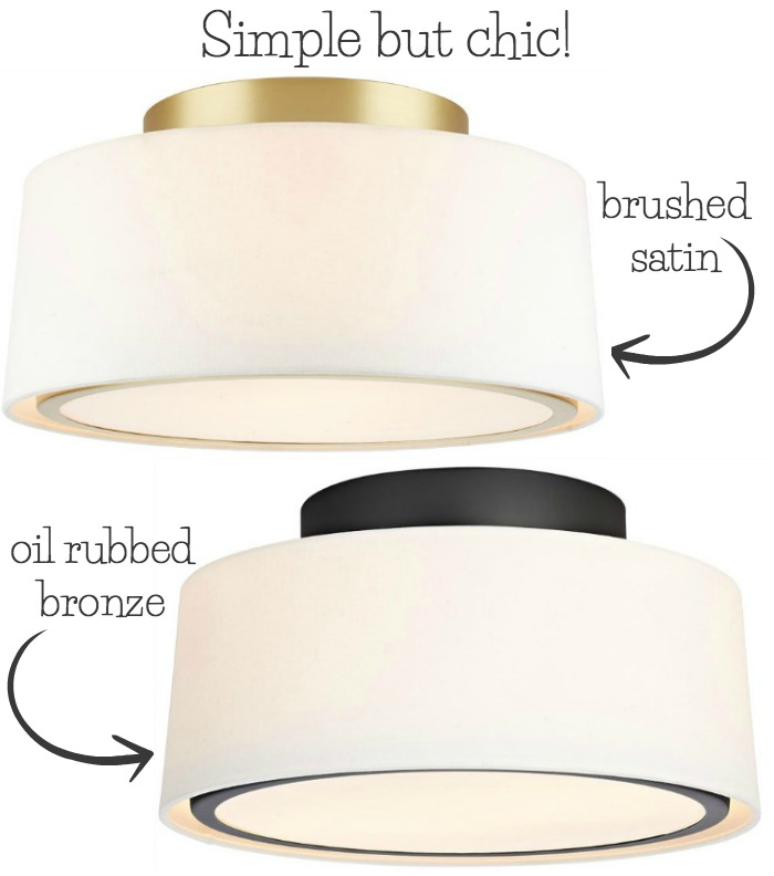Love This Simple But Chic Flush Mount Ceiling Light One Of My Favorites In