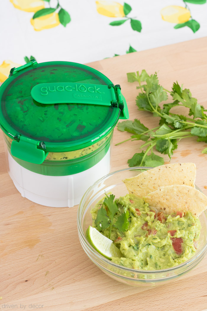 \This gadget is the key to storing guacamole WITHOUT it turning brown! More info and link to purchase in post!