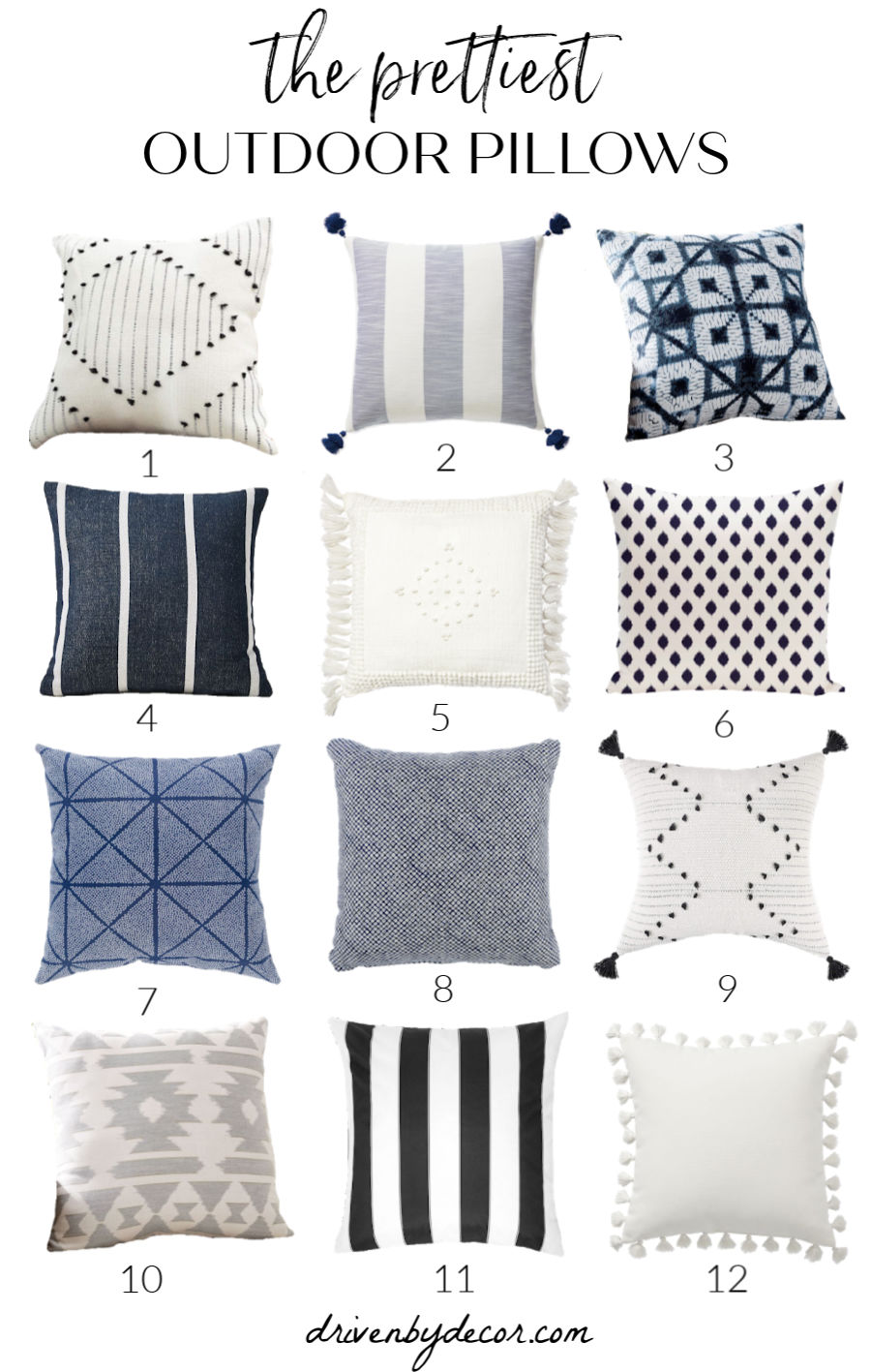 Gorgeous outdoor pillows! Love so many of these!