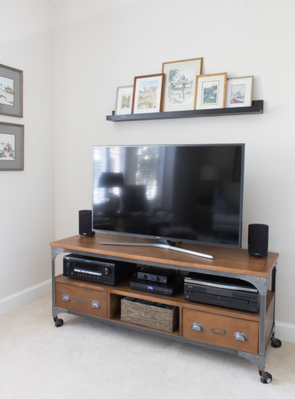 Adding a Shelf Above the TV: A Simple Decorating Solution