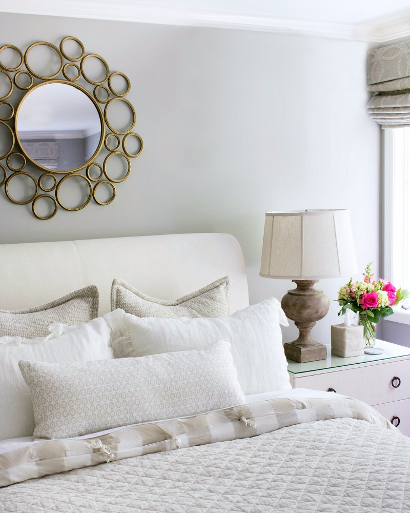 Bedding in neutrals - love the combination of the quilt and check duvet! So soothing!