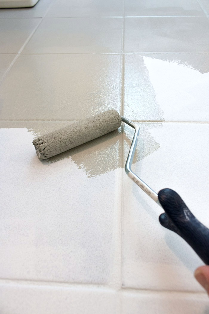 How I Painted Our Bathrooms Ceramic Tile Floors A Simple And - Ceramic tile protective coating