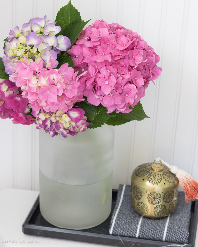Great tips on how to turn the color of your hydrangeas from blue to pink!