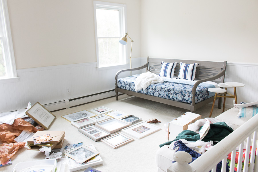 Our bonus room makeover in progress!