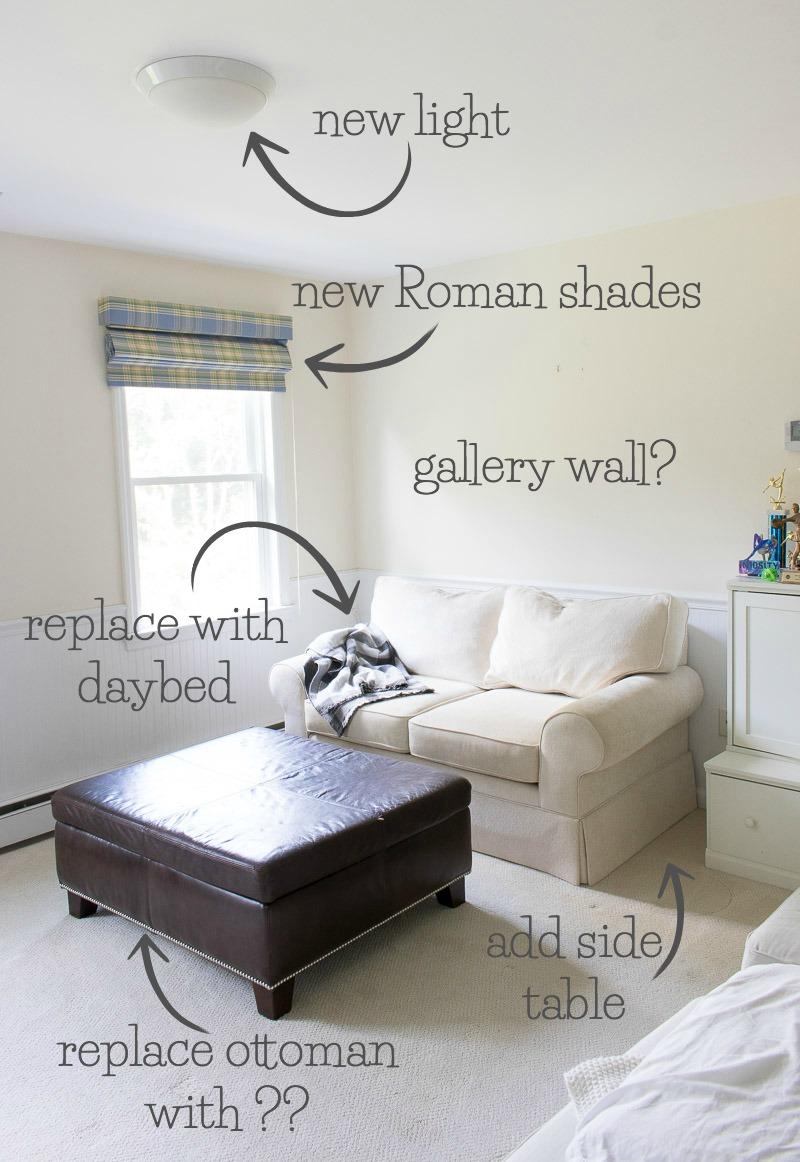 Plans for the makeover of our bonus room!