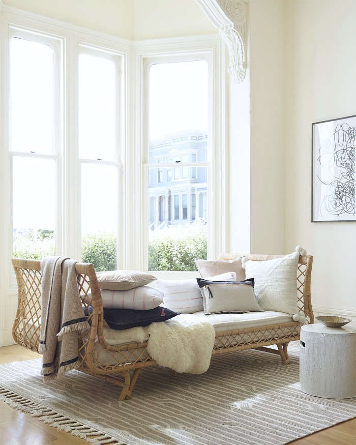 Gorgeous rattan daybed - one of many beautiful options in this post about the best daybeds!