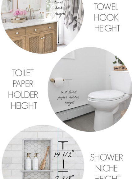 Must-Have Bathroom Measurements (Towel Bar Height, Toilet Paper Holder Height & More!)