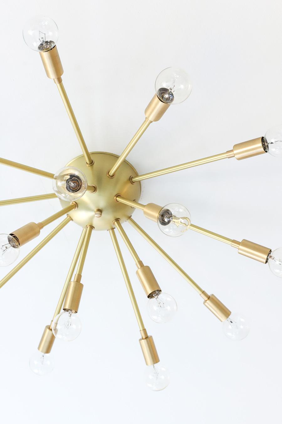 Gorgeous brass sputnik flush mount ceiling light!