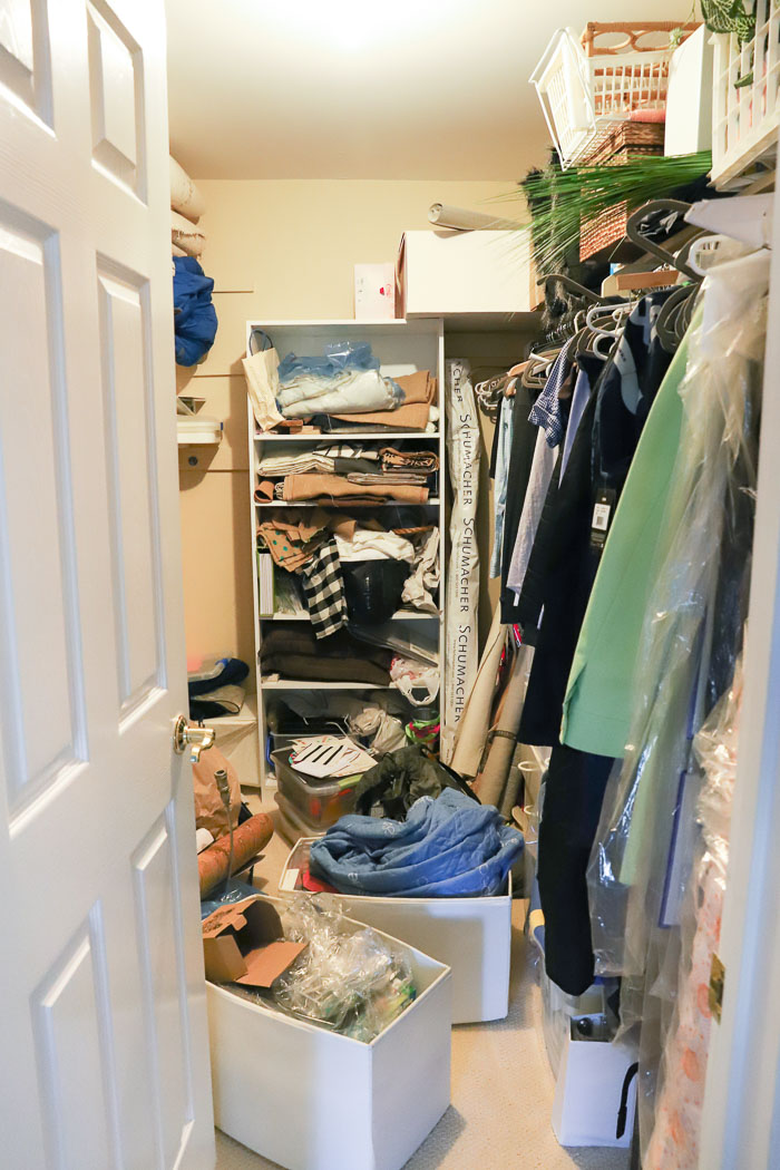 Our hoard closet before its makeover!