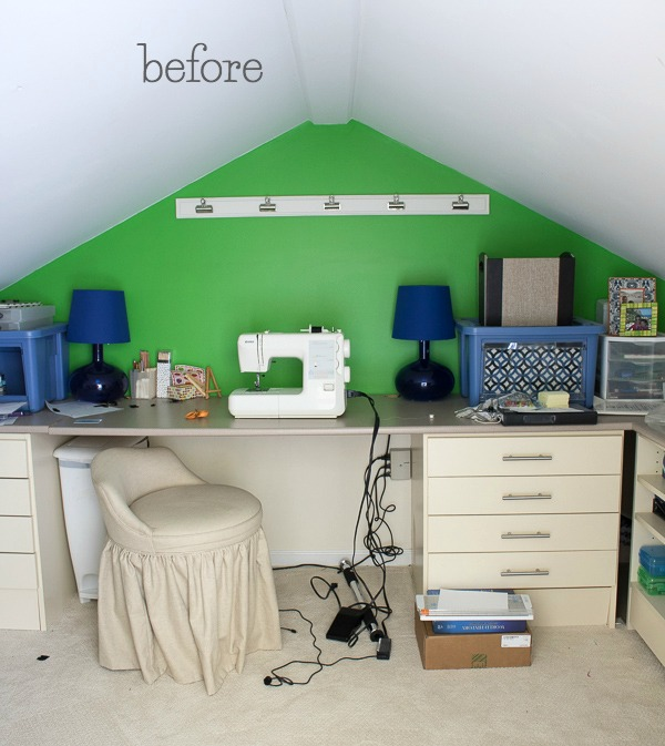 Our craft room before the makeover
