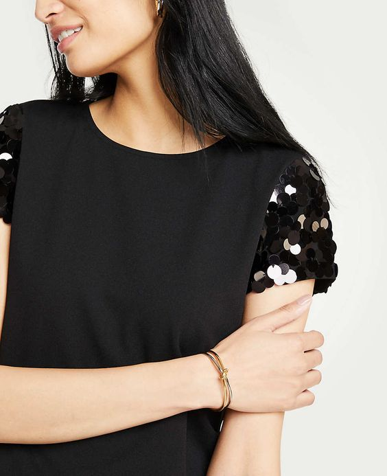 c52e8599c95 The most adorable sequin sleeve top for the holidays!