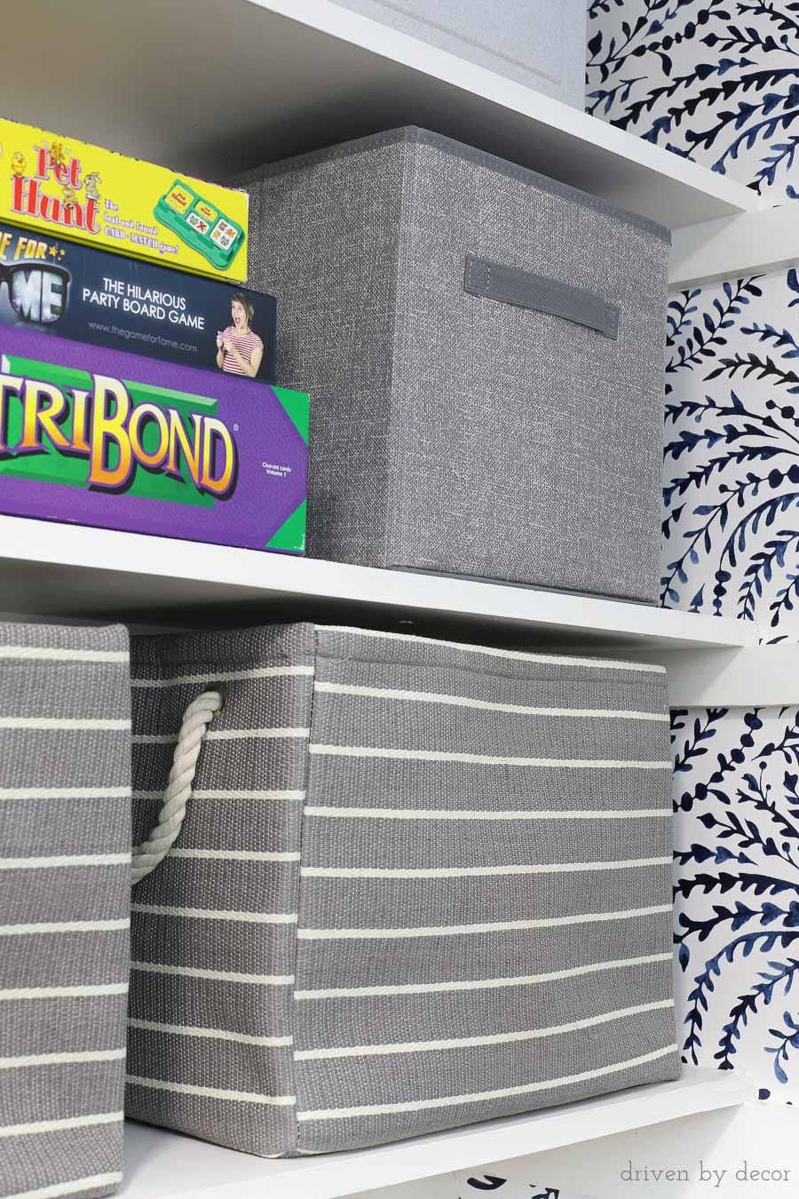 Great looking, functional storage cubes that are perfect for organizing your closet!