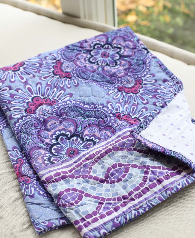 Such gorgeous shades of purple! LOVE this Lilac Tapestry quilt from Vera Bradley!