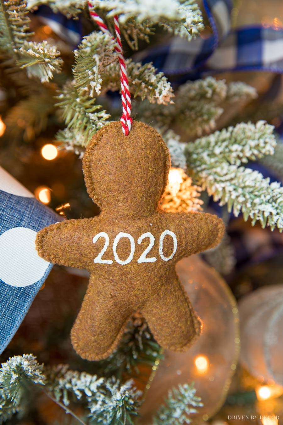 Love this ornament - check out the front of it - so perfect for 2020!