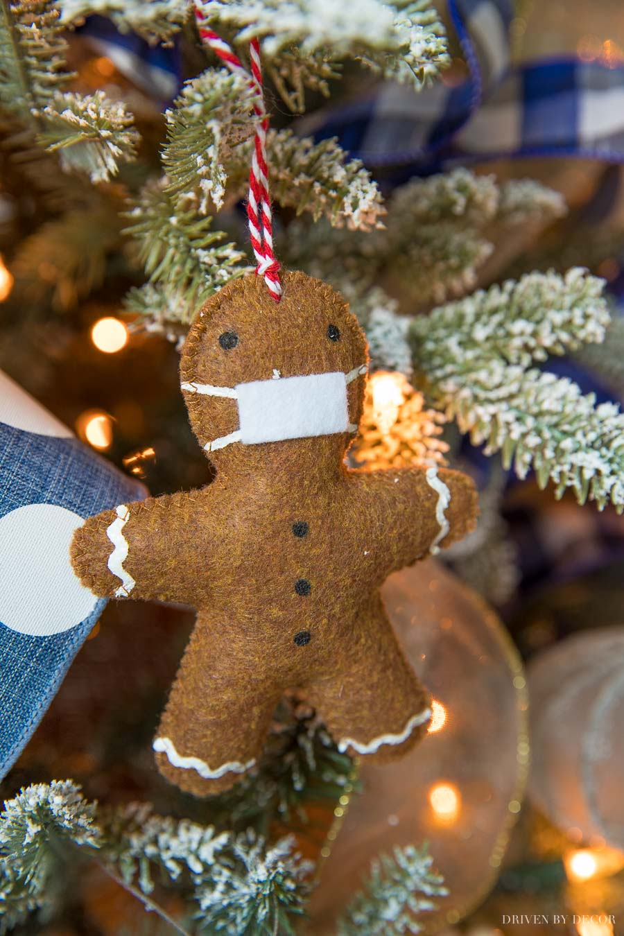 The perfect Christmas ornament for 2020! Love this handmade gingerbread man!