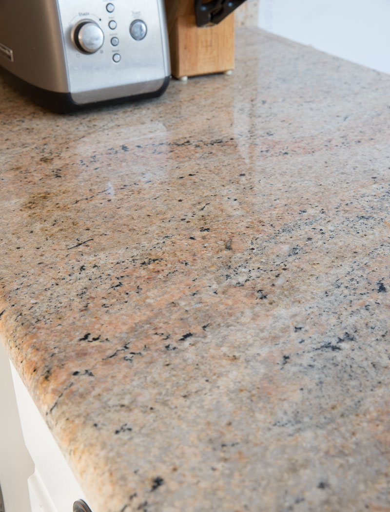 Our granite countertops before our renovation