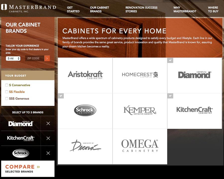 A great tool for choosing which Masterbrand cabinets (Diamond, Schrock, Kitchencraft & more) are the best fit for you!