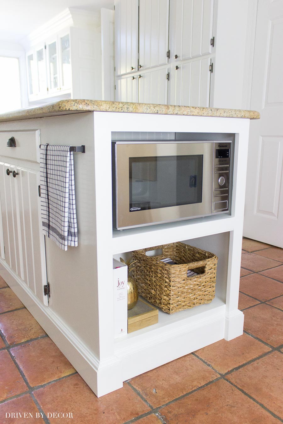 How to build a countertop microwave into your kitchen island!