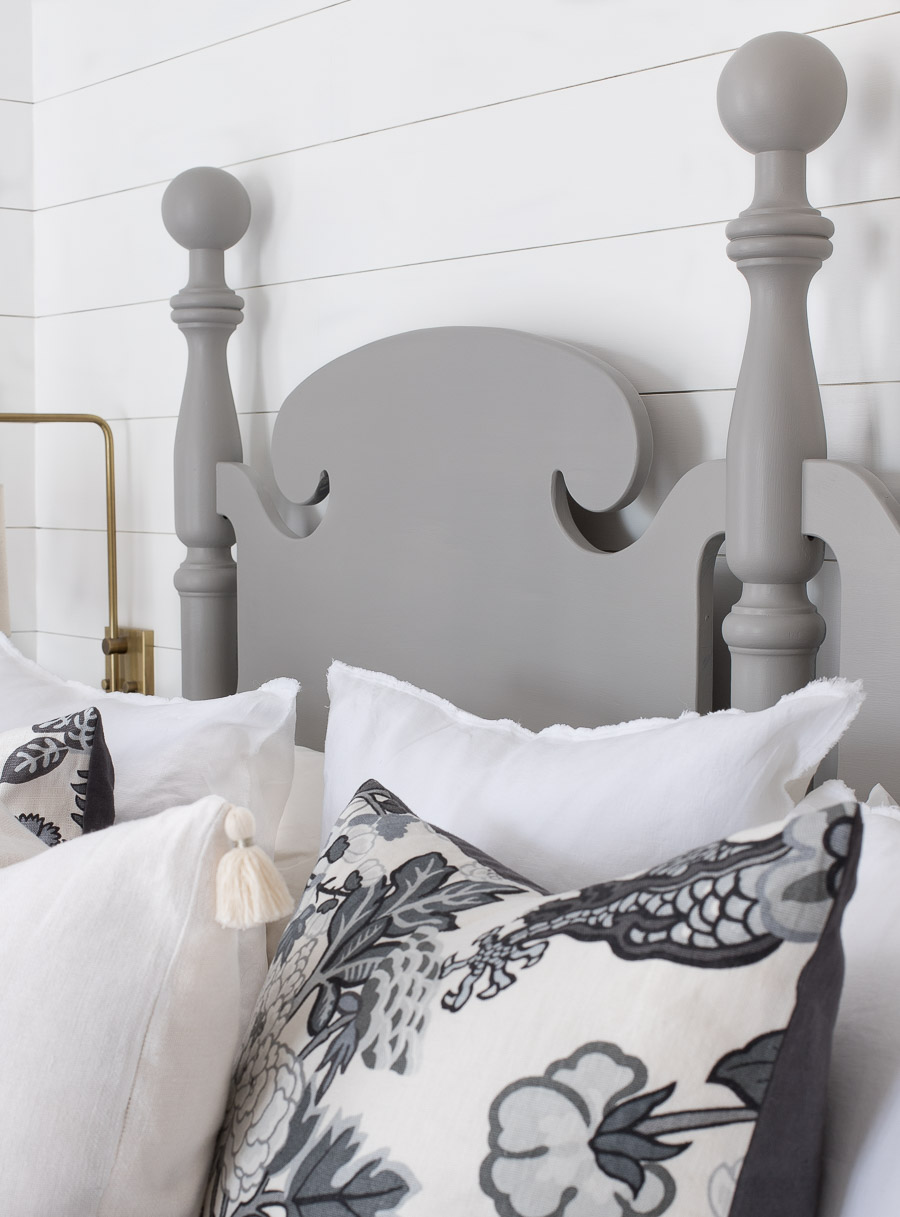 Love the idea of refreshing the look of a headboard or other piece of furniture with paint!