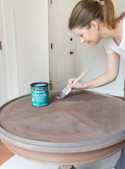 Refinishing A Table: How I Brought My Beat Up End Table Back to Life!