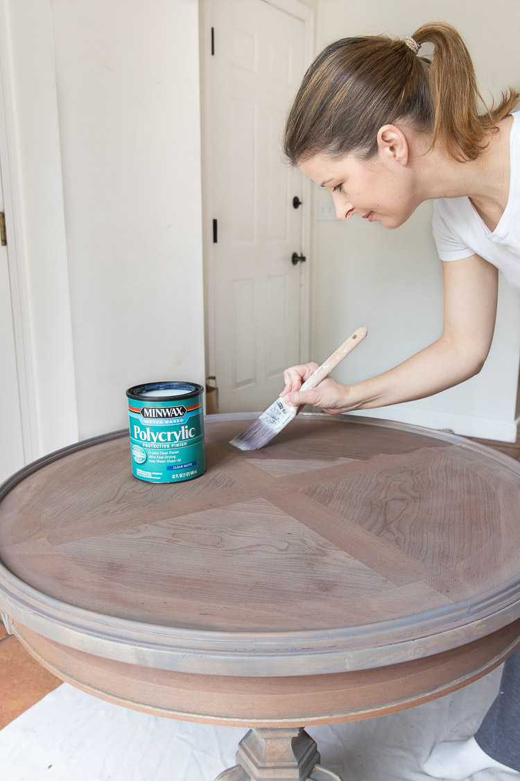Refinishing a table with Minwax!