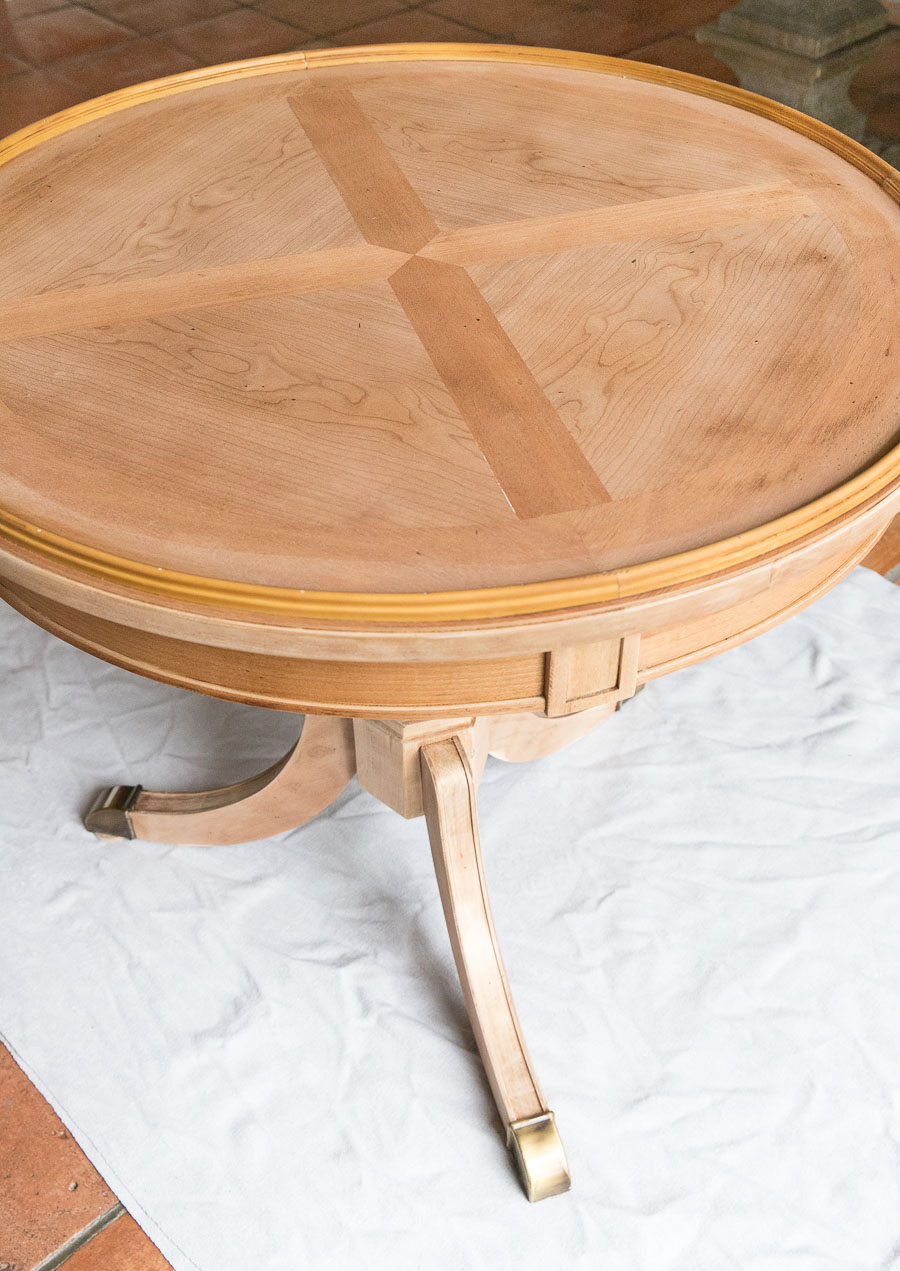 Refinishing A Table How I Brought My Beat Up End Table Back To Life Driven By Decor