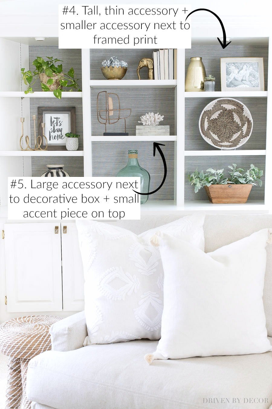 SUPER helpful tips for decorating shelves and bookcases!!
