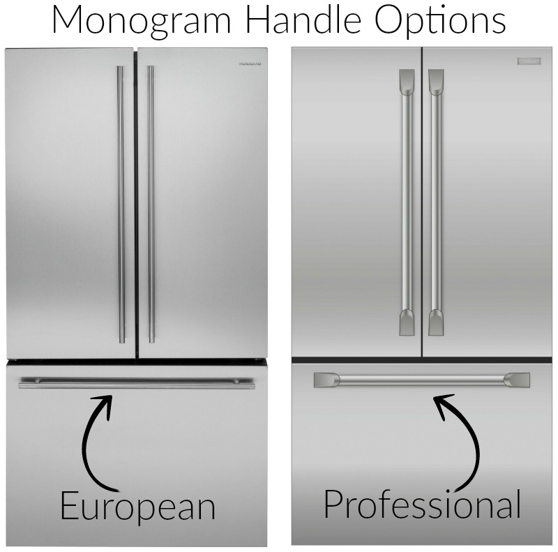 Monogram appliance handle options - European vs. Professional