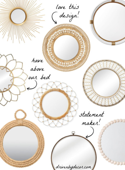 Round Mirror Round-Up + Labor Day Sale Favorites!