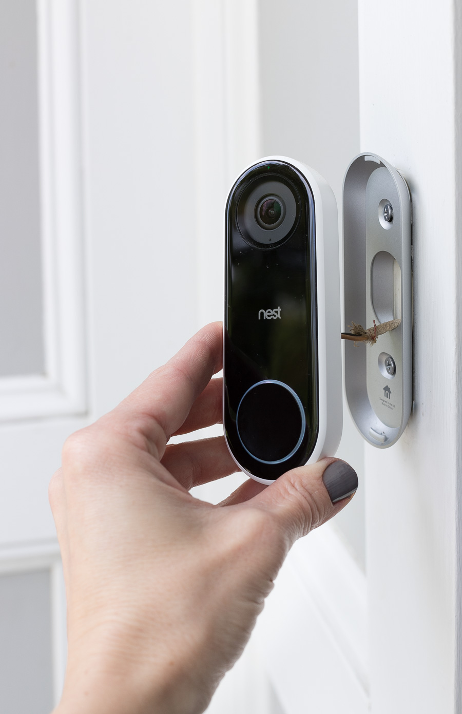 Installation of Nest Hello Video Doorbell is a snap!