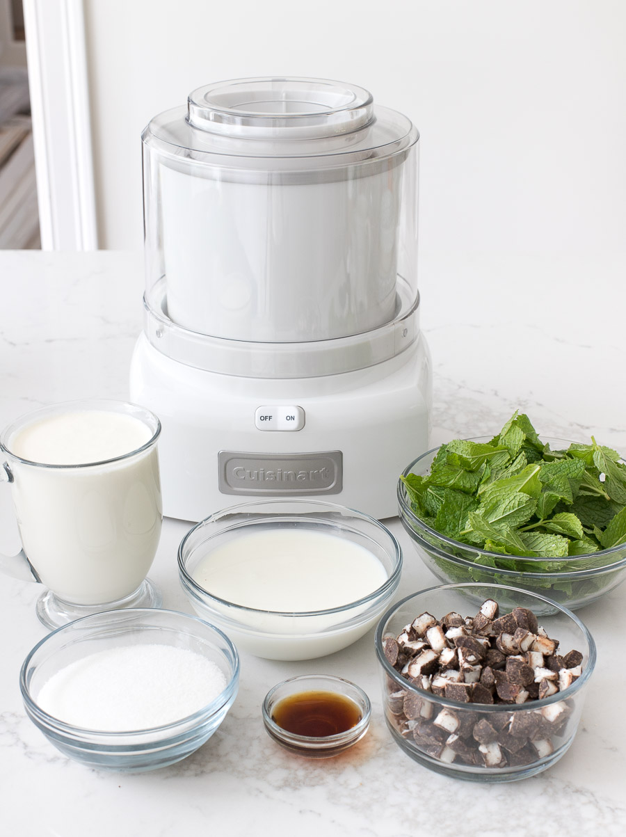 I LOVE making ice cream and this simple ice cream maker (that comes with all sorts of recipes) is the best!