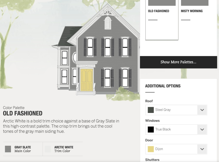 This color visualizer is SO helpful for coming up with a winning exterior color combination for your home!