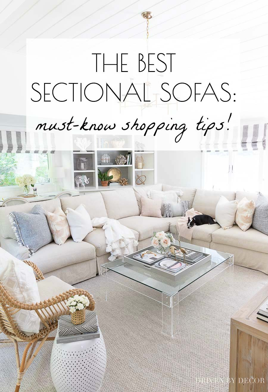Must-know shopping tips for choosing the best sectional sofa for your family! Info on the best sectional and sofa brands and what fabrics and features to look for. So helpful!