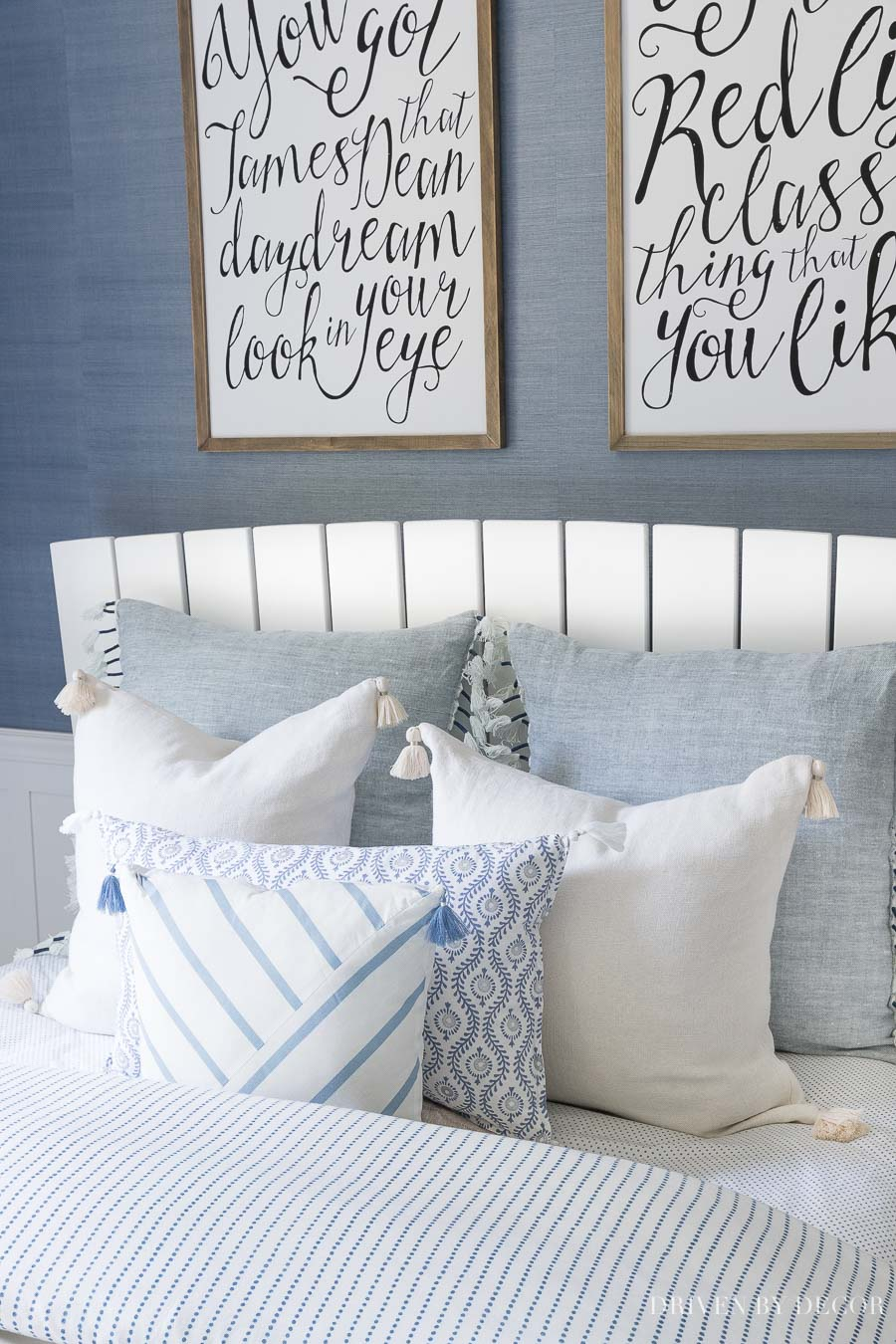 Blue and white pillow perfection - most are on sale!