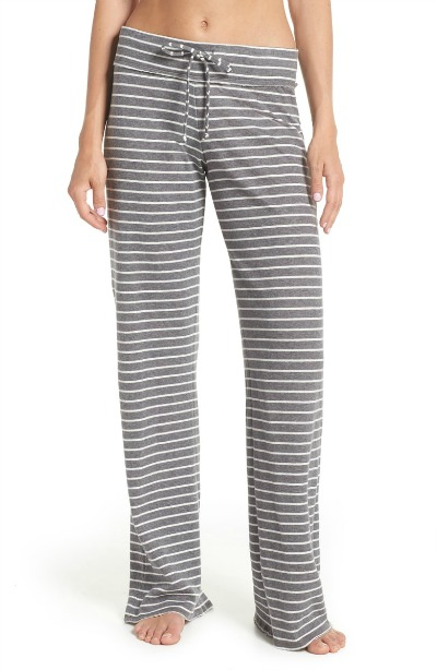 Gray striped lounge pants on sale!
