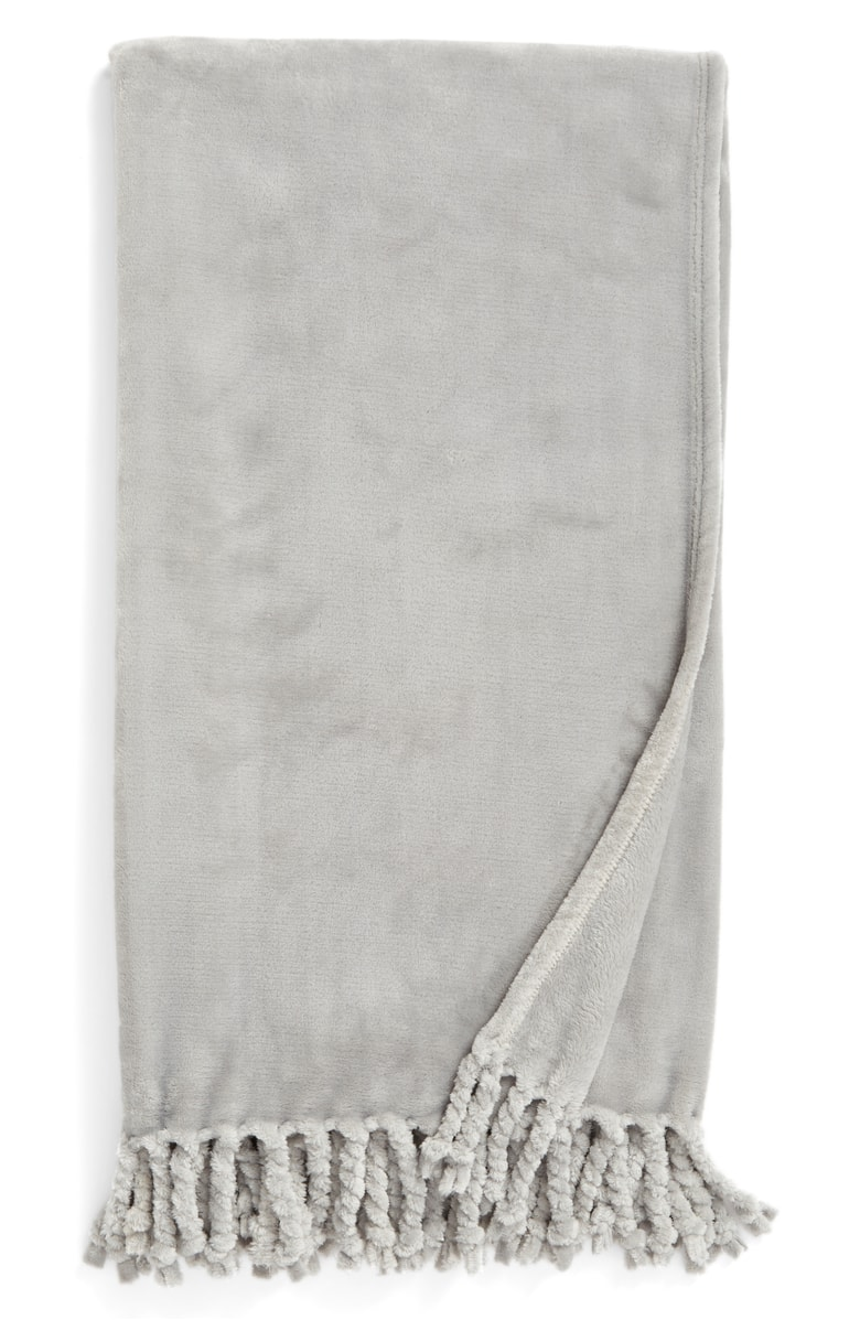 Plush gray throw - available in lots of other colors too!