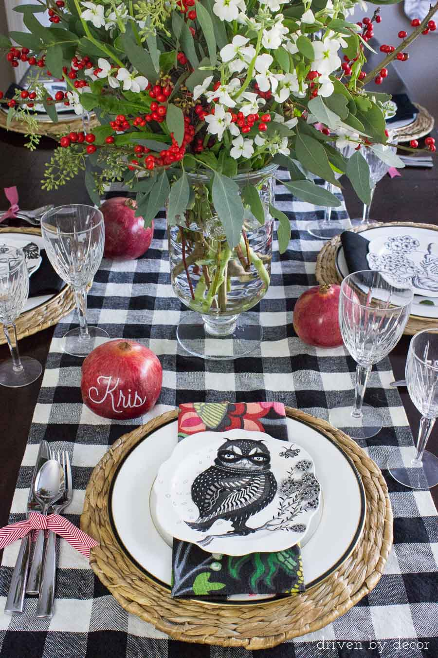 Create a gorgeous tablescape by mixing old pieces of china with newer, updated dinnerware and napkins!
