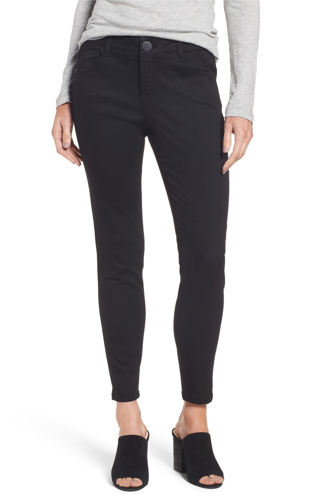 Super comfortable and flattering black skinny jeans!