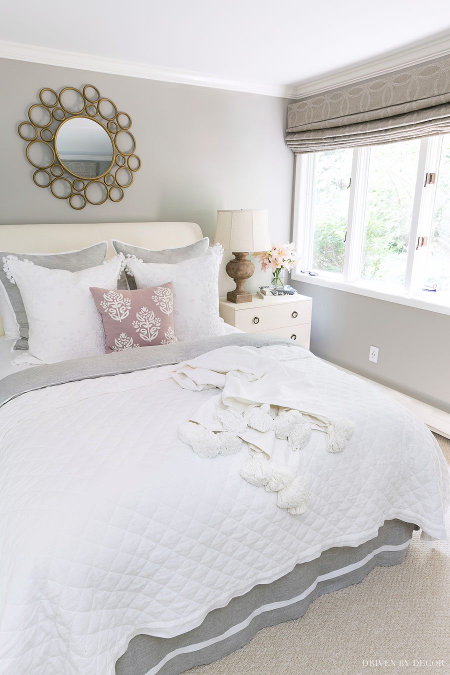The perfect quilt and duvet for creating a beautiful neutral bed! Loving that tassel throw too!