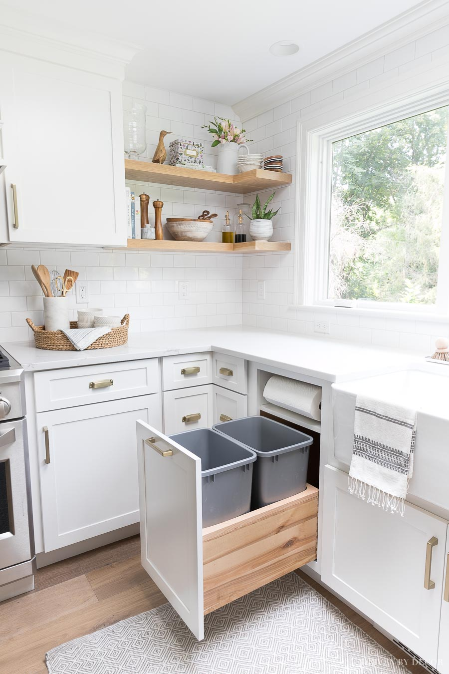 Cabinet Storage & Organization Ideas From Our New Kitchen! | Driven on trash cans for walls, trash cans for glass, trash cans for chairs, trash cans for custom cabinets, trash cans for home, trash cans for restaurants, trash cans for drawers, trash cans for storage,