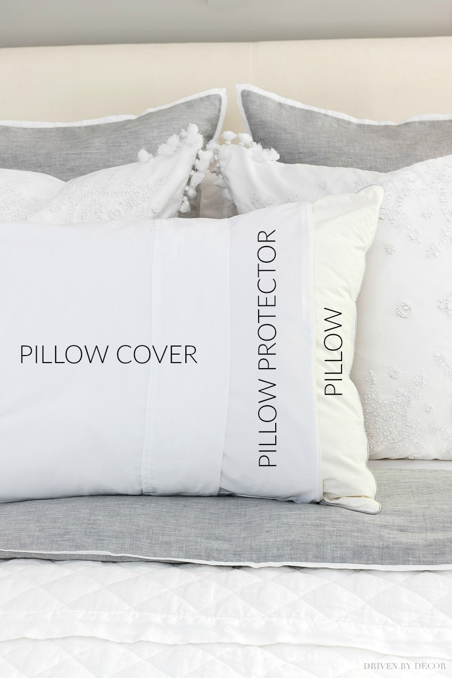 So many great guest bedding tips in this post - love the idea of using zippered pillow protectors!