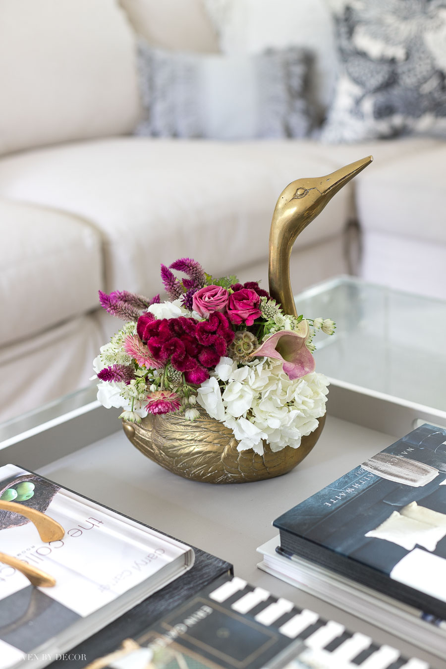 Gorgeous vintage brass swan planter - love!