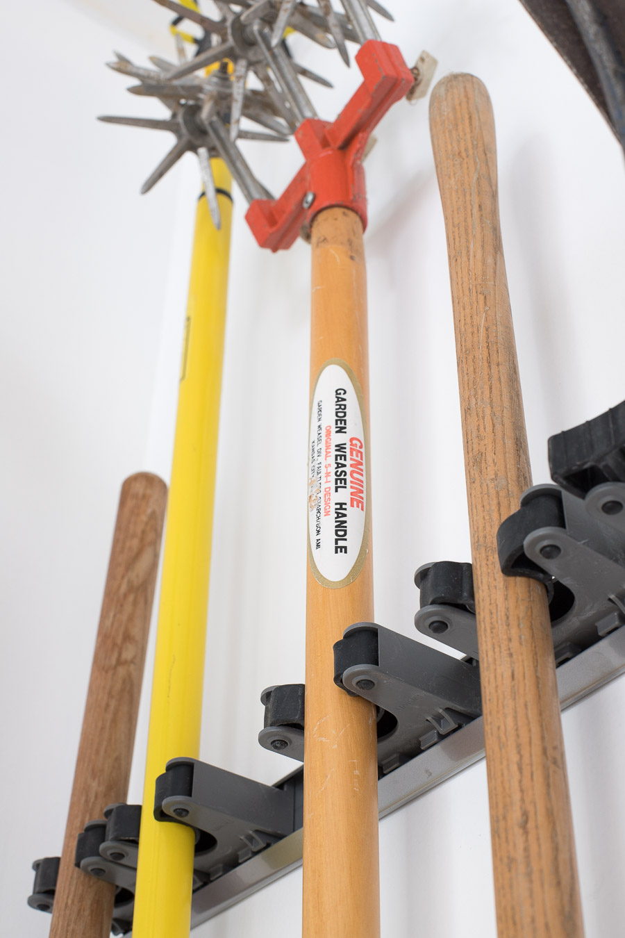 We Also Have A Few Things Hung By Simple Accessory Hooks And Others Like The Rakes That Are From This Straight Handled Tool Hook