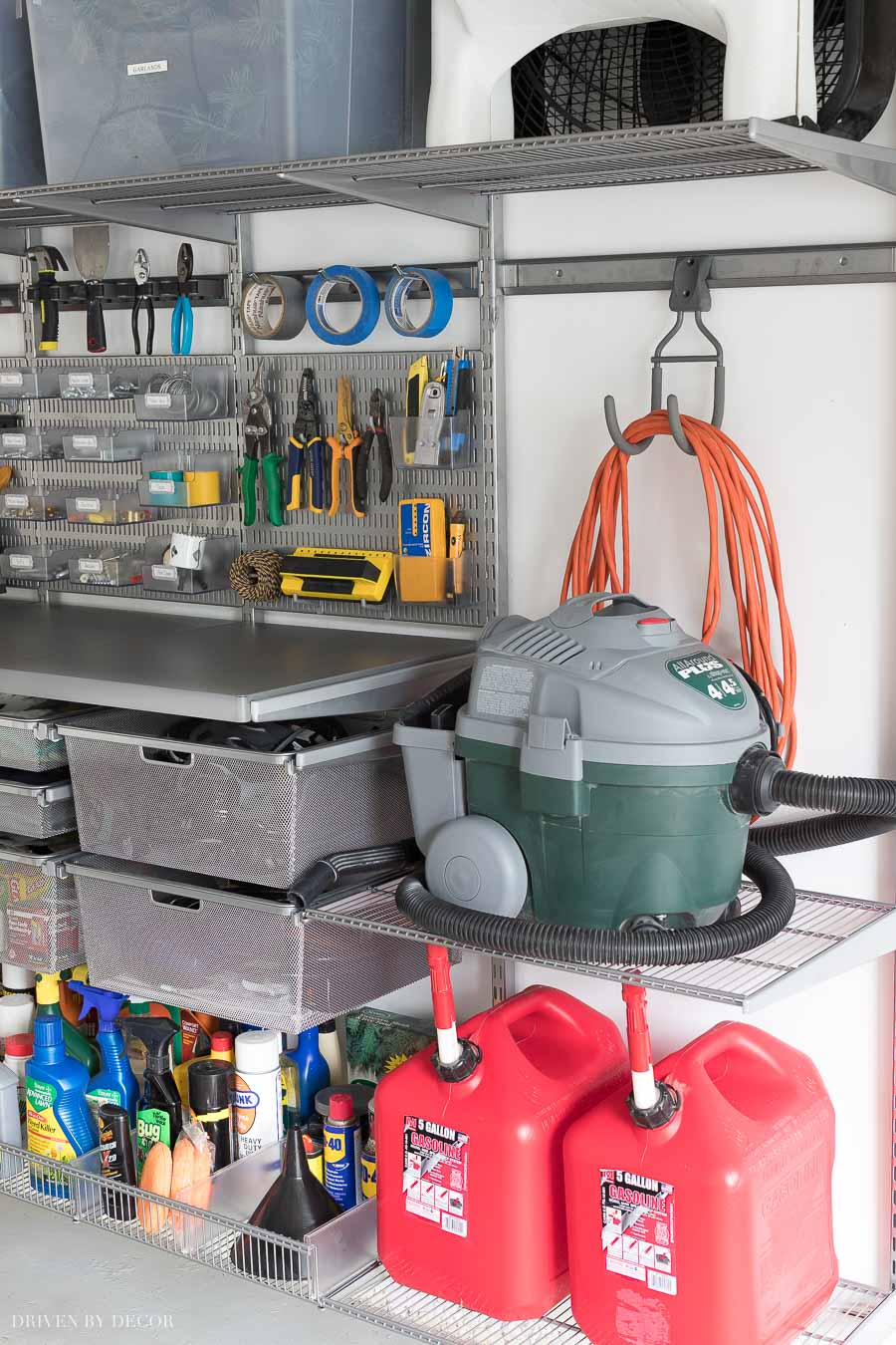I'm LOVING what I'm see about this Elfa utility garage shelving system!