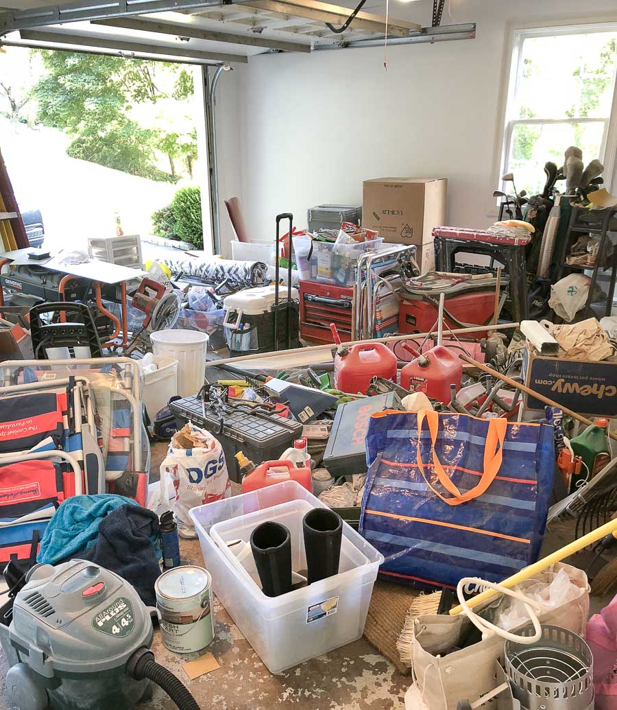 Garage clean out in progress!