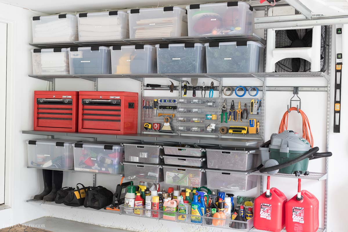 Garage organization goals! The step by step for transforming your garage from a disaster zone to the most organized garage on the block!
