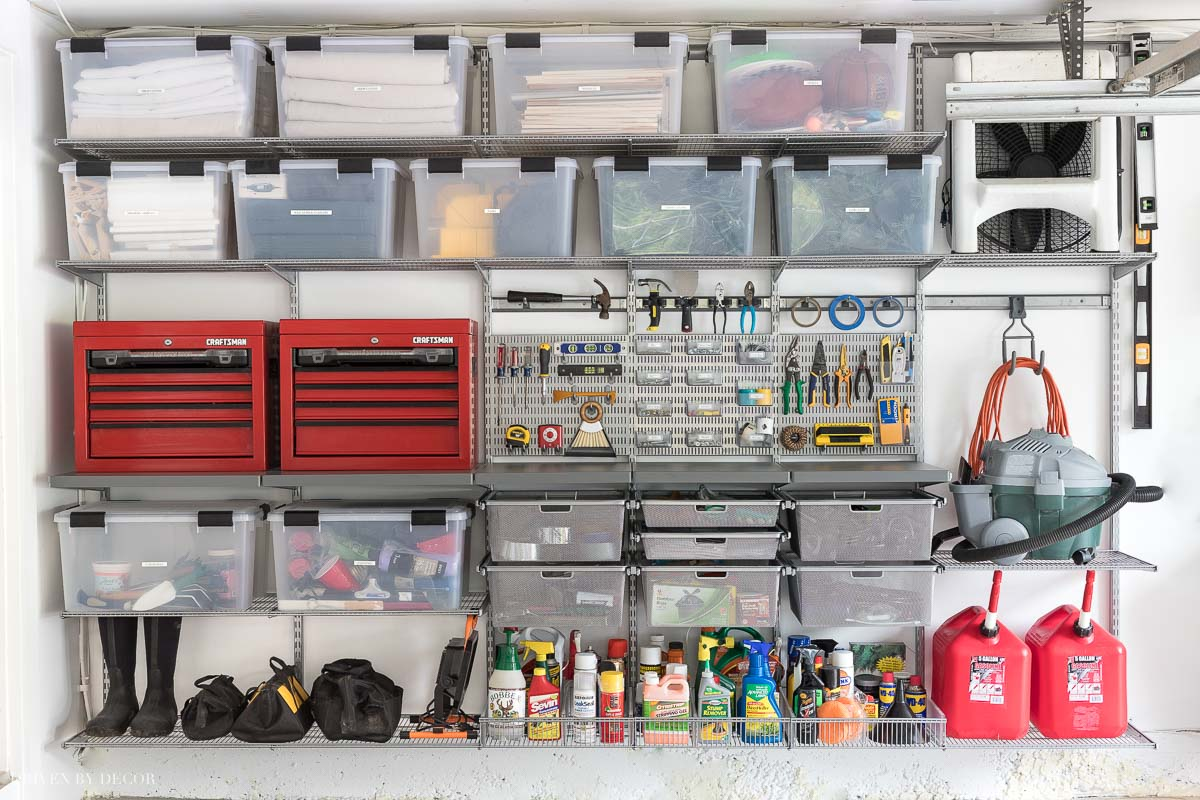 Our big garage organization project! How we tackled the clutter and organized our garage with the Elfa system!