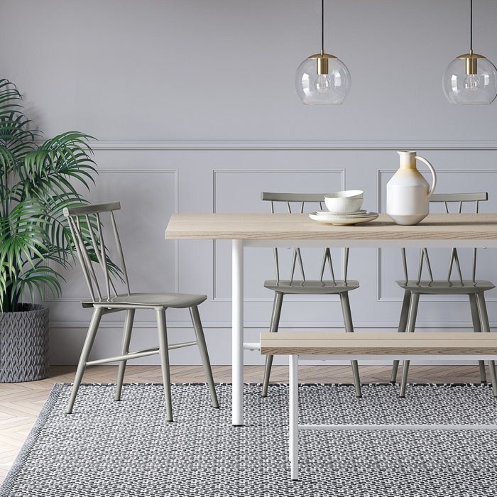 So in love with these gray dining chairs! And they're cheap!