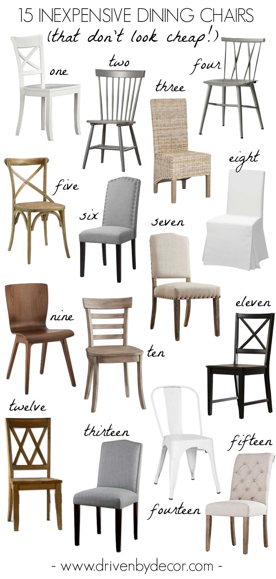 The best inexpensive dining chairs that don't look cheap!